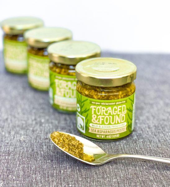 sea asparagus pesto