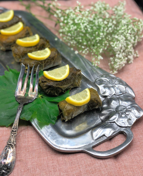 Vegan Dolmas Stuffed Grape Leaves Recipe Jolly Tomato