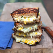 Grilled Korean corn cheese