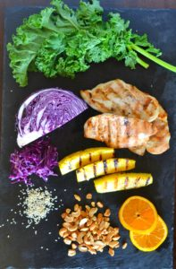 Grilled pineapple chicken salad