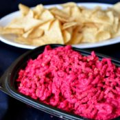 ground beet hummus