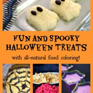 Halloween with natural food coloring