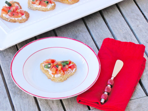 Valentine's Day Heart Bruschetta