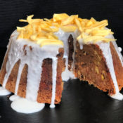 Tropical Jackfruit Cake with Coconut Glaze