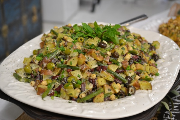 Mediterranean potato salad at the potato banquet at Hoff Farm
