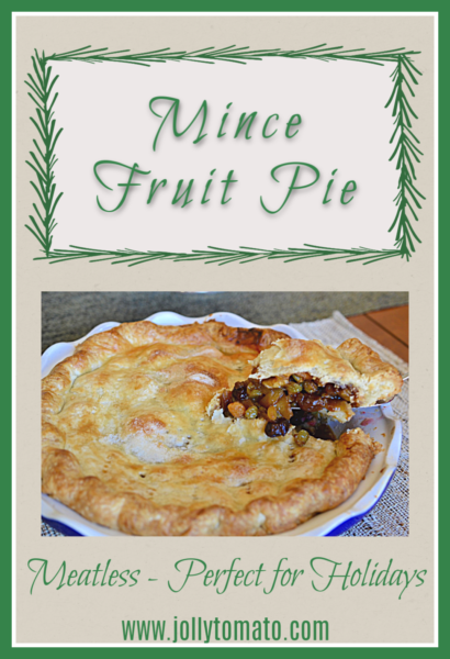 Mince Fruit Pie - Meatless and perfect for holidays!