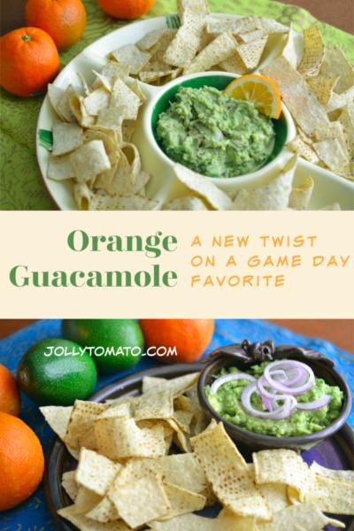 Orange guacamole - a new twist on a game day favorite