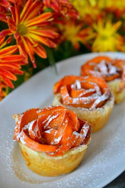 persimmon-roses