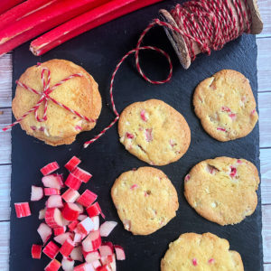Rhubarb Lemon Cookies