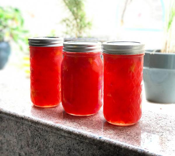 Rhubarb Peach Jam