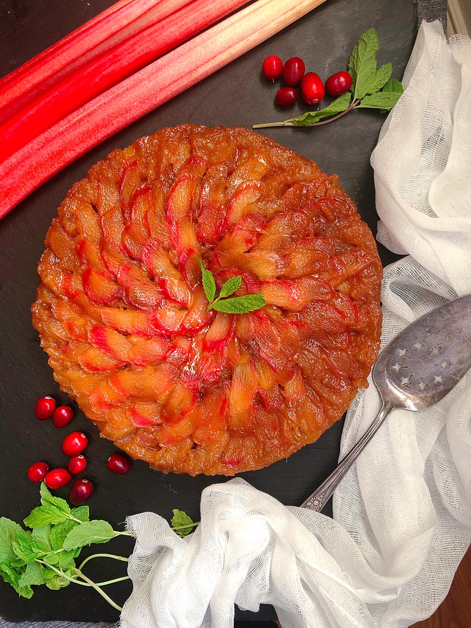 Rhubarb Upside Down Cake Recipe Jolly Tomato
