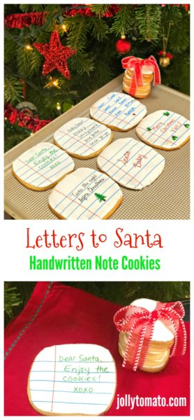 Letters to Santa - Handwritten Note Cookies