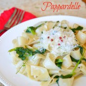 Snow Pea Shoot Pappardelle