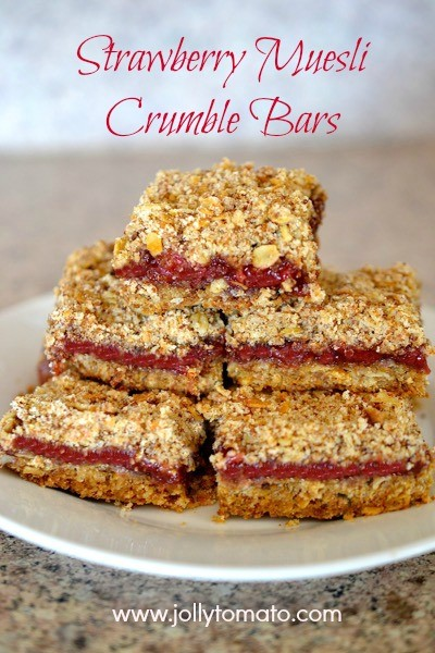 strawberry muesli bars