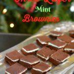 Three layer mint brownies recipe