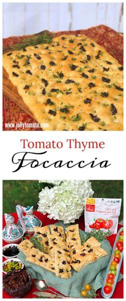 Tomato Thyme Focaccia