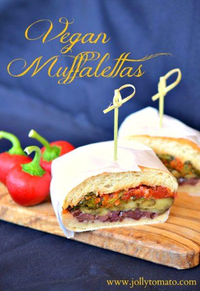 A vegan take on the traditional muffaletta sandwich